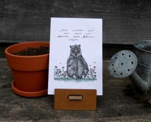 Primoza einpflanzbare Grußkarte Ich wollte dir nur mal was durch die Blume sagen