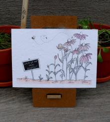 Primoza einpflanzbare Grußkarte Da hilft nur noch beeten!