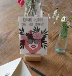 Primoza einpflanzbare Grußkarte Bloom where you are planted