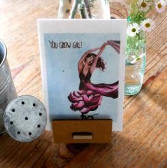 Primoza einpflanzbare Grußkarte You grow girl!