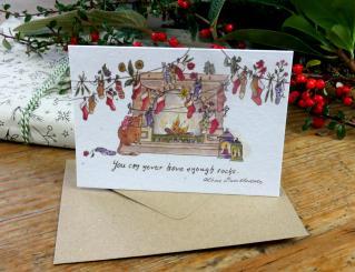 Primoza einpflanzbare Weihnachtskarte Socks