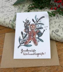 Primoza einpflanzbare Weihnachtskarte Weihnachtsgrüße