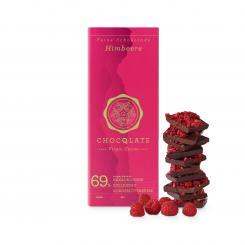 CHOCQLATE Bio-Schokolade Himbeere mit Virgin Kakao