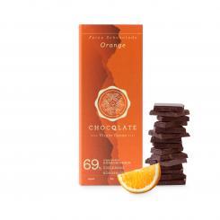 CHOCQLATE Bio-Schokolade Orange mit Virgin Kakao