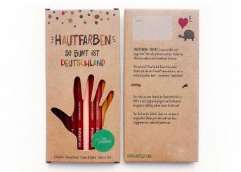 12 Hautfarben-Buntstifte So bunt ist Deutschland