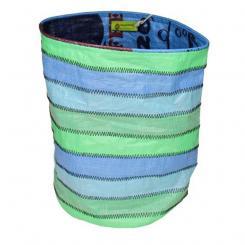 Upcycling Papierkorb grün-blau