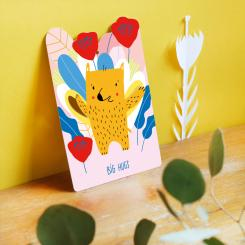 noull Pop Out Postkarte Big Hugs