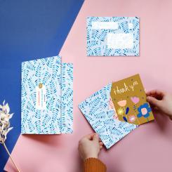 noull Briefumschläge 6er Set - Floral Pattern