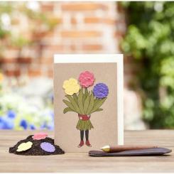 Die Stadtgärtner einpflanzbare Grußkarte Blumenstrauß