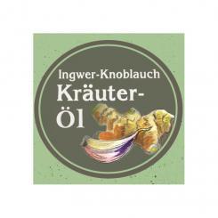 Ölmühle Garting - kaltgepresstes Ingwer-Knoblauch Kräuteröl