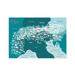 Roadtyping Postkarte Die Alpen