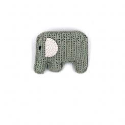 Pebble Babyrassel Elephant aus Biobaumwolle