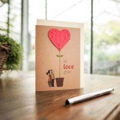 Die Stadtgärtner einpflanzbare Grußkarte Let Love Grow