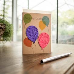 Die Stadtgärtner einpflanzbare Grußkarte Herzlichen Glückwunsch