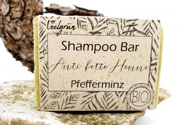 "Veelgrün plastikfreies Shampoo Bar ""Anti fette Henne"""