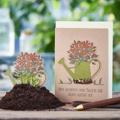Die Stadtgärtner einpflanzbare Grußkarte Wer anderen eine Blume sät