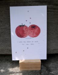 Primoza einpflanzbare Grußkarte I love you from my head to-ma-toes