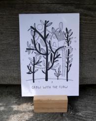 Primoza einpflanzbare Grußkarte Grow with the flow