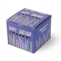 Zotter Bio Geburtstagskuchen mit Kerze