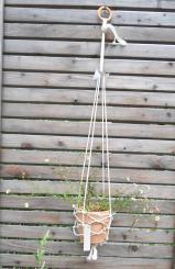 Colorswell - Upcycling Blumenampel hellblau aus Fischernetz