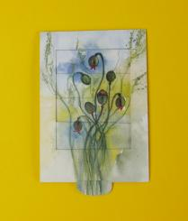 Schiebe-Klappkarte Mohnblüte