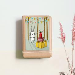 noull Postkarte Hase hat Geburtstag
