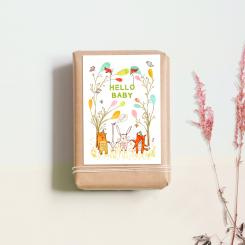 noull Postkarte Hello Baby