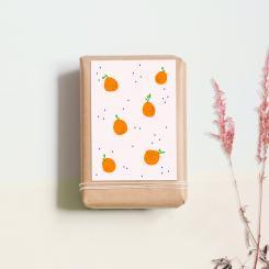 noull Postkarte Orangen