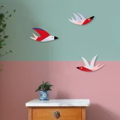 noull Wanddeko Enjoy A Swarm Of Birds - Cozy Swallows