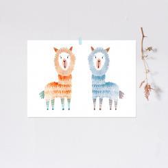 noull - Poster Zwei Alpakas