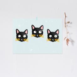 """noull - Poster """"Drei Katzen"""""""