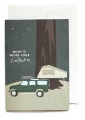 Roadtyping Grußkarte Home is where your Rooftent is