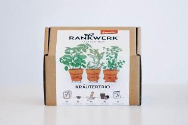 Rankwerk Geschenkbox  BIO Saatgut Kräutertrio