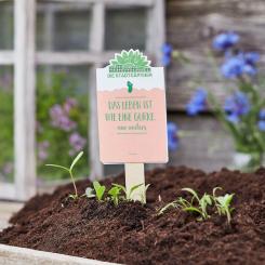"""Die Stadtgärtner - Saatgruß """"Das Leben ist wie eine Gurke, nur anders"""""""