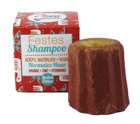 Lamazuna - Festes Shampoo Orange, Zimt & Sternanis (limitierte Winter Edition) - für normales Haar