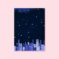 magdalena skala Kunstkarte Nachtschwärmer