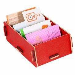 WERKHAUS - Visitenkartenbox (dunkelrot)