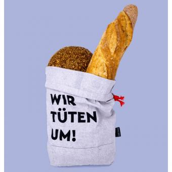 Umtüten wiederverwendbarer Brotbeutel