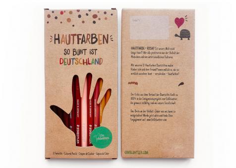 GoVolunteer 12 Hautfarben-Buntstifte So bunt ist Deutschland