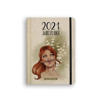Matabooks - Graspapier-Jahresplaner 2021 Good vibes only