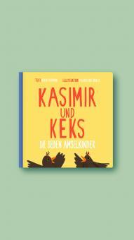 """Kinderpappbuch Kasimir und Keks """"Die beiden Amselkinder"""""""