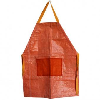 Upcycling Schürze orange aus fairem Handel