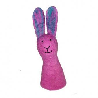 AKAR - Eierwärmer fair trade Hase pink aus Filz