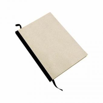 Matabooks - Notizblock Graspapier – Blanko mit schwarzem Fälzelstreifen
