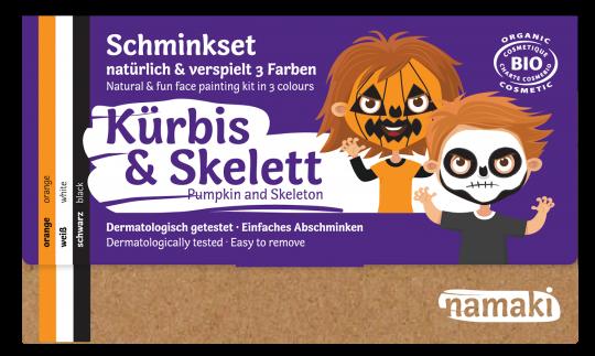 """namaki - Kinderschminkset """"Kürbis & Skelett"""""""