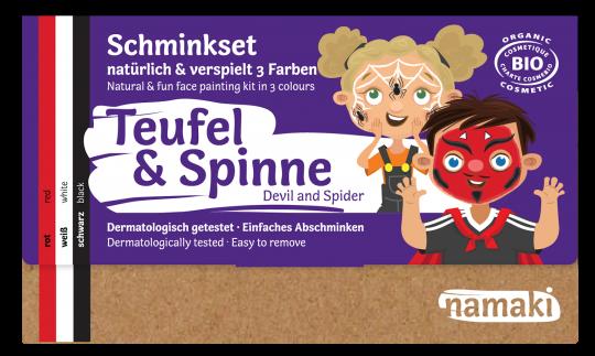 "namaki - Kinderschminkset ""Teufel & Spinne"""
