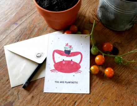 Einpflanzbare Karte You are plantastic