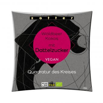 Zotter vegane BIO Schokolade Waldbeer Kokos mit Dattelzucker