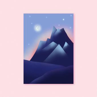 """magdalena skala - Kunstkarte """"Bergabend"""""""