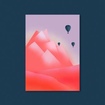 "magdalena skala - Kunstkarte ""Bergmorgen"""